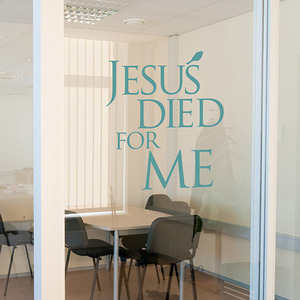 (말씀 스티커)jesus died for me